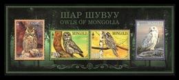Mongolia 2017 Mih. 4018/21 (Bl.432) Fauna. Birds. Owls MNH ** - Mongolia
