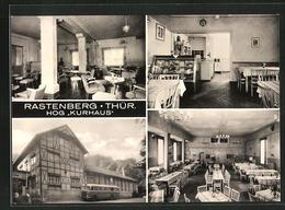 AK Rastenberg / Thüringen, Hog Kurhaus, Innenansichten Gesellschaftszimmer, Gaststube, Speisesaal - Deutschland