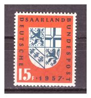 SAAR/SARRE - 1957 - ANNESSIONE ALLA GERMANIA. -  MNH** - 1957-59 Federazione