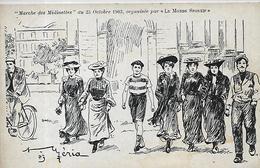 Thèmes, Illustrateurs, Raphael Tuck, Marche Des Midinettes , Scan Recto-Verso - Tuck, Raphael