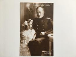 AK Furst Wilhelm Von Albanien Albania Albanie Mit Prinzessin Marie Eleonore Hofphotograph Niederastroth - Royal Families
