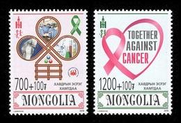 Mongolia 2018 Mih. 4053/54 Medicine. Together Against Cancer MNH ** - Mongolie