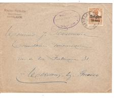 JS542/ Guerre-Oorlog 14-18 TP Oc 15 S/L.Entête Nicolas Halbette Bois&Ecorces Havelange 1917 Censure Namur V.Merxem - [OC1/25] Gen.reg.
