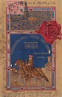 """0611 """"SIENA - COMMEMORATIVA DELLA MOSTRA DELL'ANTICA ARTE SENESE MCMIV"""" ANIMATA, TIMBRO. CART SPED 1904 - Siena"""