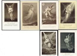 Lot 6 - IMAGE PIEUSE Religieuse - Ange Enfant Tombe - SCHAEFFER 417-494 LETAILLE 806 BOUMARD 5 BOUASSE 2288 - Images Religieuses