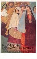 """0612 """"ROMA - 1911 - ESPOSIZIONE ETNOGRAFICA - MOSTRA INT.LE ARTE CONTEMPORANEA..."""" ANIMATA. CART SPED 1911 - Mostre, Esposizioni"""