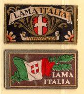 Rasage. Razor Blade. 2 Emballages De Lame De Rasoir, Lama Italia. - Lames De Rasoir