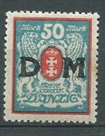 Dantzig - Service - Yvert N° 29   *   - Ah 29305 - Dantzig