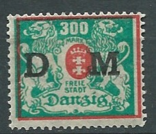 Dantzig - Service - Yvert N° 34   *   - Ah 29308 - Dantzig