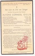 DP Z EH Alfons C. Gillis ° Merksplas 1871 † Begijnhof Hoogstraten 1939 / Mechelen Begijnendijk Oosthoven Oud-Turnhout - Images Religieuses