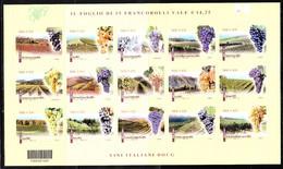 Italia   -  2016. Uva E Vini Italiani BF Co Codice Postale. Italian BF Grapes And Wines With Postal Code.Rare, MNH - Alimentazione