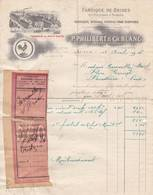71 AUTUN Saône Et Loire FACTURE 1916  Fabrique De Brides Tannerie Au Petit Puits  PHILIBERT & BLANC  A79 - France