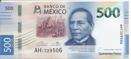 MEXIQUE 500 PESOS 2017 UNC P New - Mexico