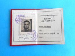 YUGOSLAVIAN BOXING FEDERATION - BOXING JUDGE Official ID Card ( 1950. ) * Juge De Boxe Boxeo Boxen Pugilato - Boksen