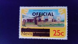 Nevis 1980 Artisanat St Christophe Nevis Anguilla Service Surchargé Overprint OFFICIAL Yvert S2 ** MNH - St.Christopher, Nevis En Anguilla (...-1980)