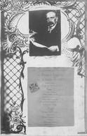 CARTE PHOTO INVITATION DINER - MEDECINS ET PERSONNEL A LEUR ANCIEN DIRECTEUR - MENU - Fantaisies