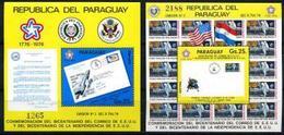 Paraguay, 1976, 200 Year USA, Space ,  2 Blocks - Zuid-Amerika