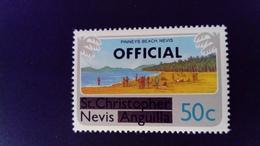 Nevis 1980 Tourisme Tourism Mer Sea St Christophe Nevis Anguilla Service Surchargé Overprint OFFICIAL Yvert S6 ** MNH - St.Christopher, Nevis En Anguilla (...-1980)