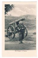 CPA Allemande Guerre 1914/18 : NAMUR Ein Belgier - Un ( Soldat ) Belge à Namur - Feldpostkarte - Namur