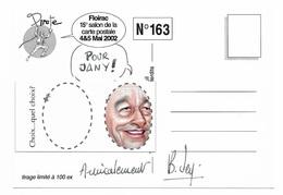 Illustrateur Bernard Veyri Caricature Et Dedicace Jacques Chirac Elections Presidentielles 2002 Floirac - Veyri, Bernard