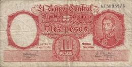ARGENTINE 10 PESOS ND1954-63 VG+ P 270 - Argentine