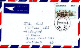 ZIMBABWE. N°297 De 1994 Sur Enveloppe Ayant Circulé. Bulawayo. - Zimbabwe (1980-...)