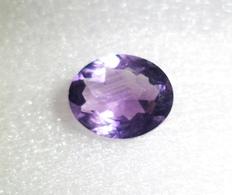 3.75 Ct Natural Amethyst Oval Shape Loose Gemstone [0008] - Amatista