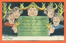 "CPA Illustrateur AP Jarry "" Brevet De Conardes "" - Humor"