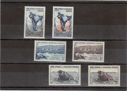 V13 - TAAF PO 2/7** De 1956 - Manchots - Otaries - Elephants De Mer. Série Complète Cote 51,40 - Terres Australes Et Antarctiques Françaises (TAAF)