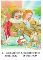 Illustrateur Bernard Veyri Caricature Bergerac Journee Des Collectionneurs 1999 - Veyri, Bernard