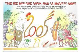 Illustrateur Bernard Veyri Caricature Meilleurs Voeux Pour La Nouvelle Annee 2005 - Veyri, Bernard