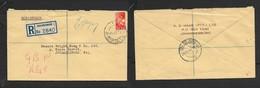 S.Africa Local ,domestic Cover, 6d,  Registered JOHANNESBURG-15 - 24 IX 43 Johannesburg - South Africa (...-1961)