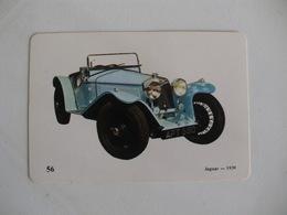 Jaguar 1939 Portugal Portuguese Pocket Calendar 1989 - Calendars
