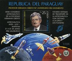 Paraguay, 90 Years , Birthday G.Oberth, 1984, S/s Block - Zuid-Amerika
