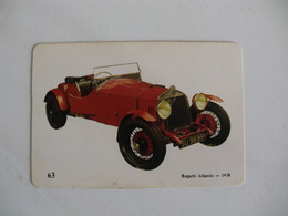 Bugatti Atlantic 1938 Portugal Portuguese Pocket Calendar 1989 - Calendars