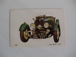 Aston Martin 1934 Portugal Portuguese Pocket Calendar 1989 - Calendars
