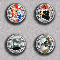 Johnny Hallyday Music Fan ART BADGE BUTTON PIN SET 18 (1inch/25mm Diameter) 35 DIFF - Music