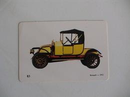 Renault 1912 Portugal Portuguese Pocket Calendar 1989 - Calendars