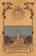 """0620 """"VARESE - SOC. NAZ.LE DANTE ALIGHIERI-COSTIT. SOTTOC. LUINO"""" ILLUSTRATORE L. CAVALERI 1867/1942. CART  SPED 1909 - Varese"""