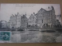 MEAUX - Vieux Moulins Et Pont Du Marché (inondations De 1910) - Meaux