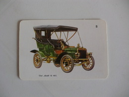 Ford Modell B 1905 Portugal Portuguese Pocket Calendar 1988 - Calendars