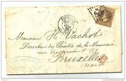 030. LAC N°30 - Destination BELGIQUE (BRUXELLES) - 1872 - 1849-1876: Classic Period