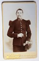 CDV Carte Photo Ancienne Portrait D'un Miltaire 149 RI Photographe Scherr Epinal Avenue Des Templiers - Oorlog, Militair