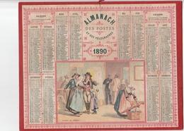 Calendrier De 1890s , Simple - Bon Etat - Calendars