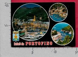 CARTOLINA NV ITALIA - Saluti Da PORTOFINO (GE) - Vedutine Multivue - 10 X 15 - Saluti Da.../ Gruss Aus...
