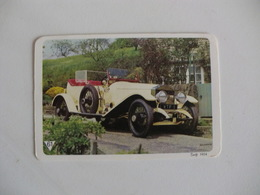 Rolls Royce Swift 1924 Portugal Portuguese Pocket Calendar 1988 - Calendars