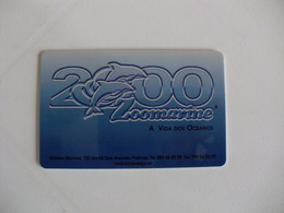 Zoomarine Dolphin Dauphin Golfinho Portugal Portuguese Plastic Pocket Calendar 2000 - Calendars