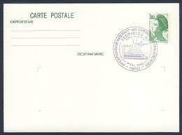 France Rep. Française 1986 Card / Karte / Carte - 14e. Exp. Int. Cheminots Philatelistes - FERPHILEX 87, Paris - Treinen