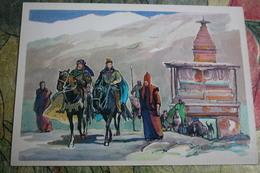China. Tibet. Explorer Marco Polo - Old Soviet Postcard - Tibet