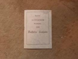 Bulletin Scolaire Institut Saint Joseph Frameries 1964-5 - Diploma & School Reports
